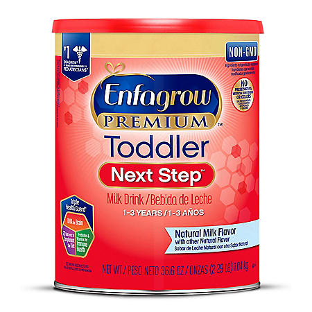 Enfagrow Premium Toddler Next Step Milk Drink Powder, Natural Milk Flavor (36.6 oz.)