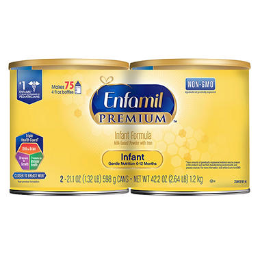 Enfamil Premium Infant Formula Powder (21.1 oz., 2 pk.)