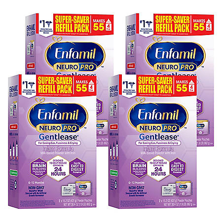 Enfamil NeuroPro Gentlease Infant Formula, Powder Refill (30.4 oz., 4 pk.)