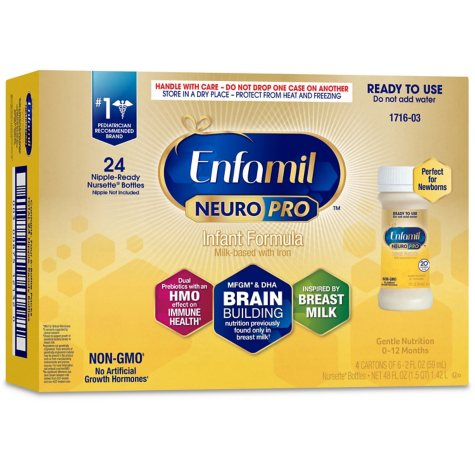 Enfamil NeuroPro Infant Formula, Ready to Use (2 fl. oz., 24 ct.)