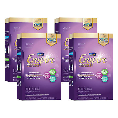 Enfamil Enspire Gentlease Infant Formula Milk-based Powder with Iron (29 oz., 4 pk.)