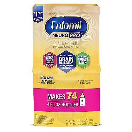 Enfamil NeuroPro Infant Formula Non-GMO Milk-Based Powder with Iron (20.7 oz., 2 pk.)