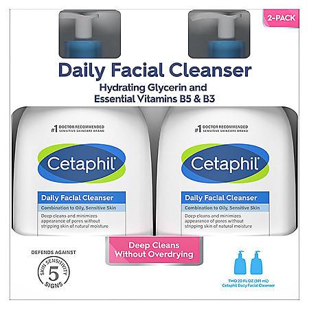 Cetaphil Gentle Daily Facial Cleanser (20 oz., 2 pk.)