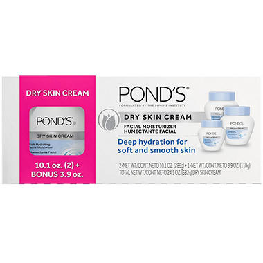 Pond's Dry Skin Cream (two 10.1 oz., one 3.9 oz.)
