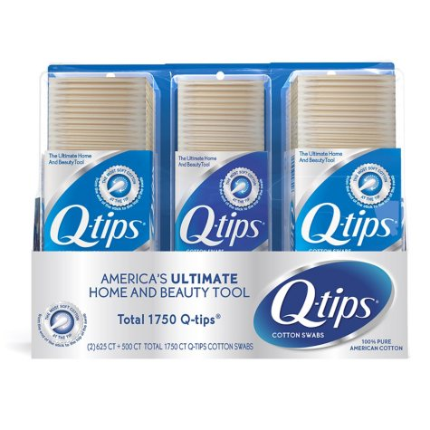 Q-tips Cotton Swabs (625 ct., 2 pk.; 500 ct., 1 pk.)