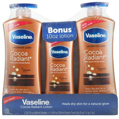 Vaseline Intensive Care Cocoa Butter Lotion, Cocoa Radiant (20.3 oz., 2 pk. + 10 oz.)