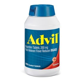 Advil Pain Reliever / Fever Reducer Coated Tablet, 200mg Ibuprofen (360 ct.)