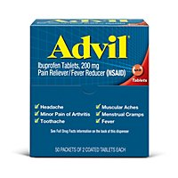 Advil Pain Reliever Fever Reducer Coated Tablet 200mg Ibuprofen