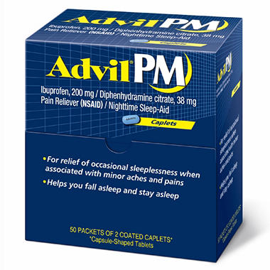 Advil PM Caplets 50CT Dispenser