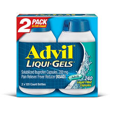 Advil Liqui-Gels (120 ct., 2 pk.)