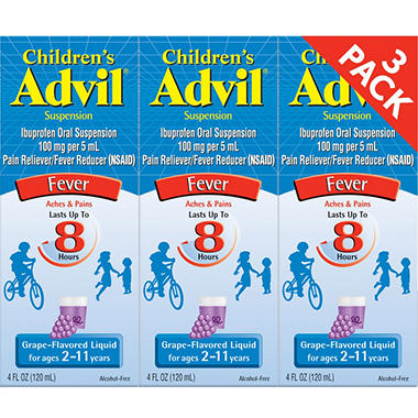 Children's Advil® Liquid - Grape - 4 fl. oz. - 3 pk.