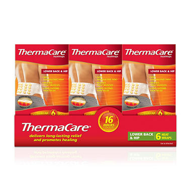 Thermacare Back & Hip Heat Wraps - 6 ct.