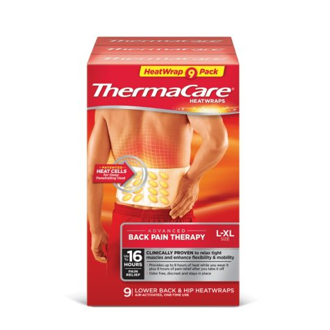ThermaCare Lower Back & Hip HeatWraps (9 ct.)