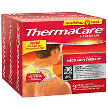 ThermaCare Neck, Shoulder, Wrist HeatWraps (9 ct.)