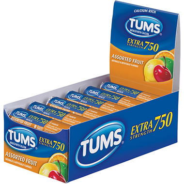 Tums E-X® 750 Assorted Fruit - 12/12ct