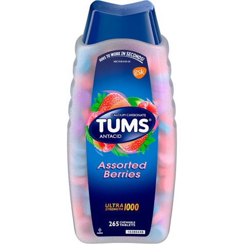 Tums Ultra Strength 1000mg Chewable Tablets, 265 ct. (Choose Your Flavor)