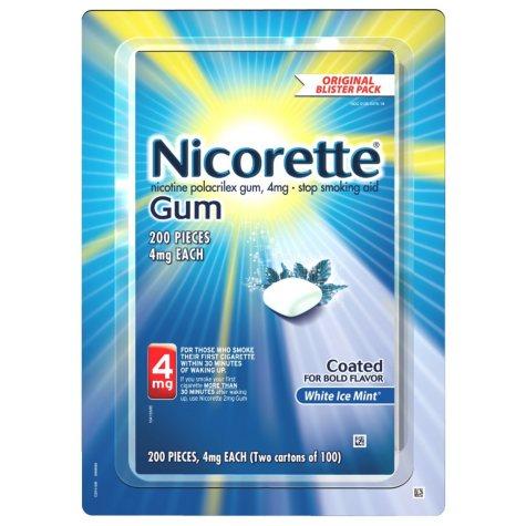 Nicorette 4 mg Gum - White Ice Mint (100 ct., 2 pk.)