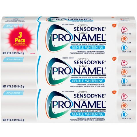 Sensodyne Pronamel Gentle Whitening Toothpaste for Sensitive Teeth, Alpine Breeze (6.5 oz., 3 pk.)