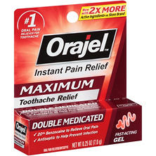 Orajel Maximum Strength Gel for Toothache Oral Pain Reliever (0.25 oz.)