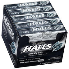 Halls Intense Cool Oral Anesthetic Menthol Drops (9 ct., 20 pk.)
