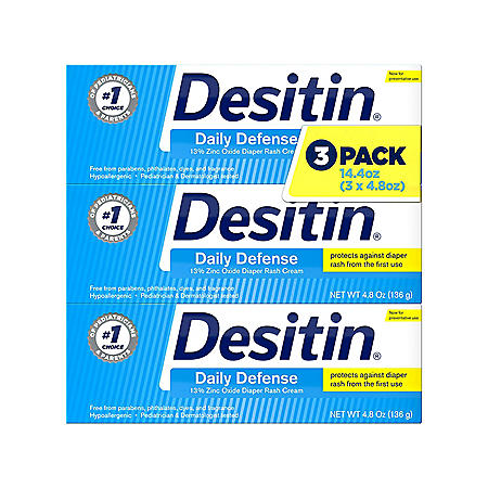 Desitin Rapid Relief Diaper Rash Cream (4.8 oz., 3 pk.)