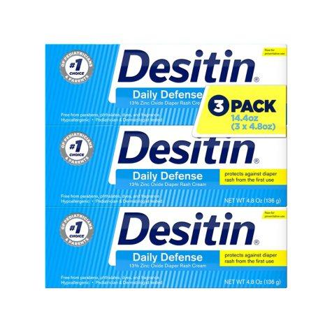 Desitin Rapid Relief Diaper Rash Cream (4.8 oz., 3 pk.)