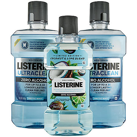 Listerine Ultraclean Zero Alcohol + Coconut Lime (3 pk.)