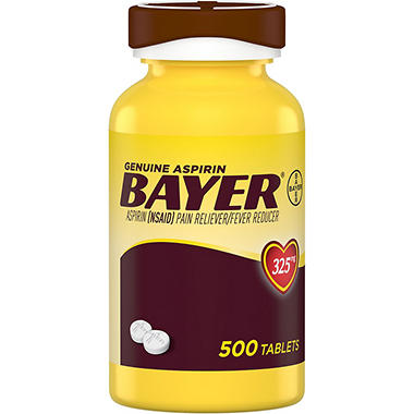 Bayer Genuine Aspirin (500 ct.) - Sam's Club