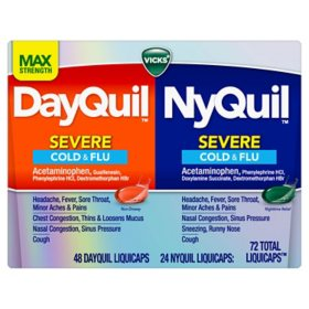 Vicks NyQuil and DayQuil LiquiCaps Combo Pack (72 ct.)