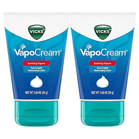 Vicks VapoCream, Soothing and Moisturizing Vapor Cream (3 oz. ea., 2pk.)