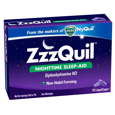 ZzzQuil Nighttime Sleep-Aid LiquiCaps, (72 ct.)
