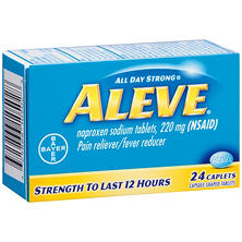 Aleve Pain Reliever/Fever Reducer Caplets (24 ct.)