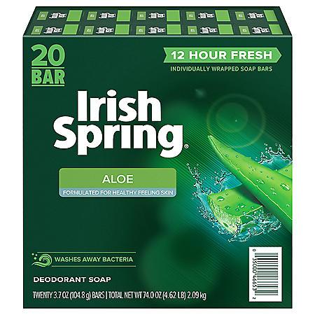 Irish Spring Aloe Deodorant Bar Soap (3.75 oz., 20 ct.)