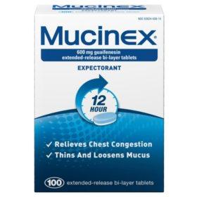 Mucinex Expectorant 12 Hour (100 ct.)