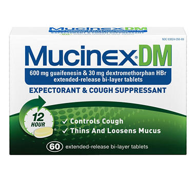 Mucinex DM Expectorant & Cough Suppressant - Regular Strength - 60 ct.