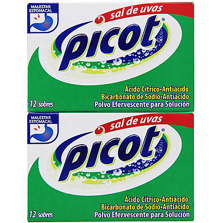 Sal de Uvas Picot | Citric Acid and Sodium Bicarbonate Antacid  (24 pk.)