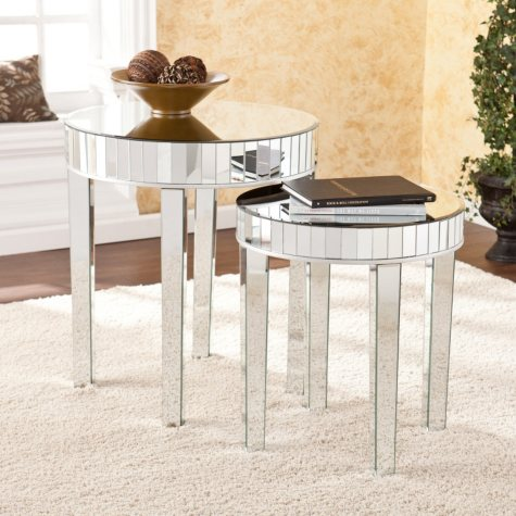 Avonlea Mirrored Nesting Table 2-piece Set