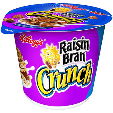 Kellogg's Raisin Bran Cereal in a Cup - 2 oz. Cup - 12 ct.