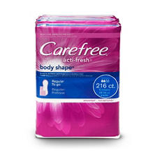 Carefree Acti-Fresh Pantiliners  4 pk. - 54 ct. each