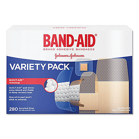 BAND-AID Sheer/Wet Adhesive Bandages, Assorted Sizes (280 ct.)