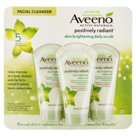 Aveeno Positively Radiant Skin Brightening Exfoliating Daily Facial Scrub (5 fl. oz., 3 pk.)