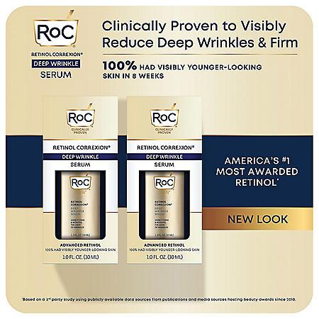RoC Retinol Correxion Deep Wrinkle Facial Serum, Anti-Wrinkle Treatment Made with Retinol (1 fl. oz., 2 pk.)