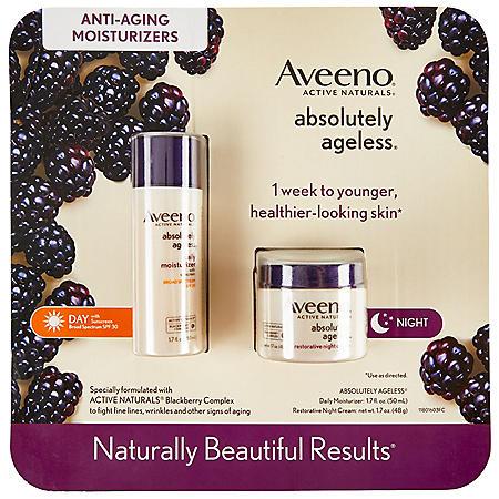 Aveeno Absolutely Ageless Restorative Night Face Cream and Aveeno Absolutely Ageless Daily Moisturizer with SPF 30 (1.7 oz., each 2 pk.)