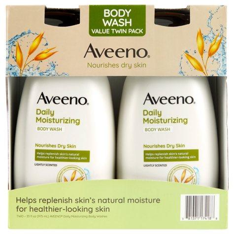 Aveeno Daily Moisturizing Body Wash (33 fl. oz., 2 pk.)
