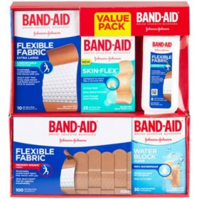 Band-Aid Brand Active Lifestyles Variety Pack Adhesive Bandages, 173 Count