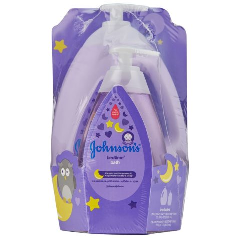 Johnson's Baby Bedtime Bath, No More Tears (33.8 fl. oz. + 13.6 fl. oz.)