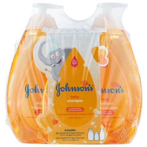 Johnson's Baby Shampoo (27.1 fl. oz., 2 pk. + 13.6 fl. oz)