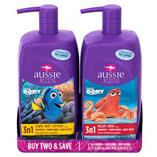 Aussie Kids 3-in-1 Shampoo, Conditioner & Body Wash (29.2 fl. oz., 2 pk.)