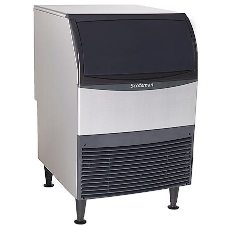 Scotsman UF424A-1 Essential Ice 440 lb. Air Cooled Undercounter Flake Ice Machine with 80 lb. Bin