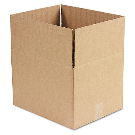 "General Supply Brown Corrugated - Fixed-Depth Shipping Boxes, 15"" L x 12"" W x 10"" H, 25/Bundle"